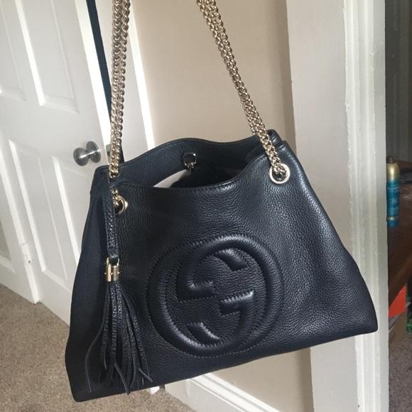 e4a28439834 Gucci Handbags - Gucci SoHo Medium Tote Chain Shoulder Bag